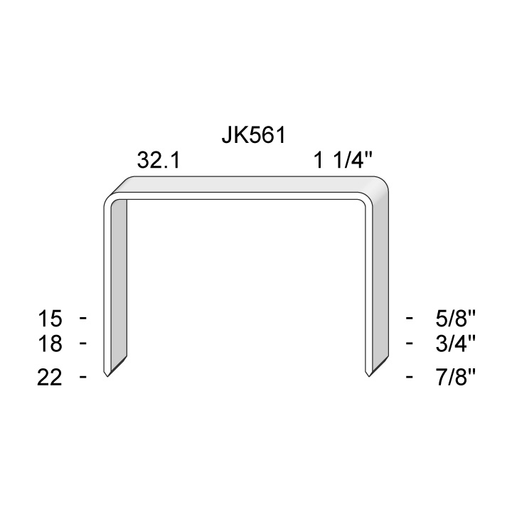JK-561 SERIES STAPLES