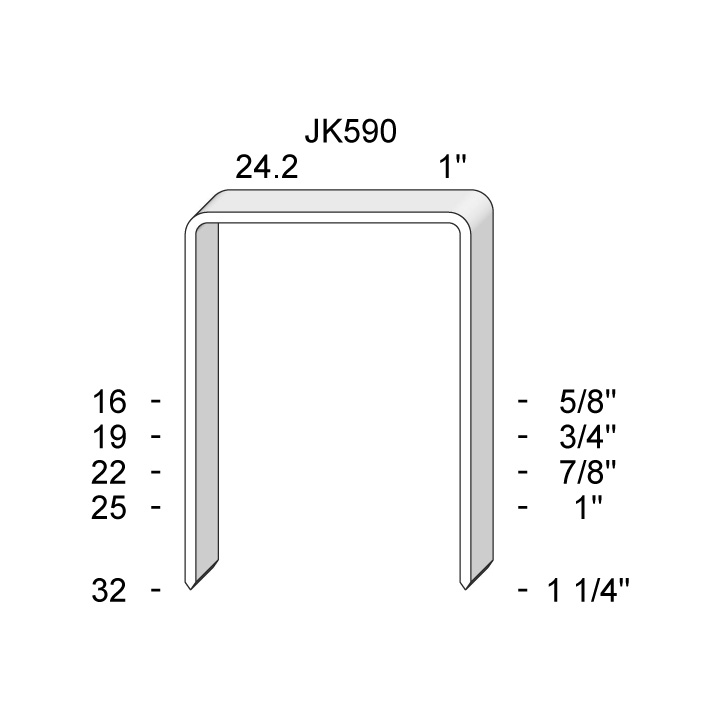 JK-590 SERIES STAPLES