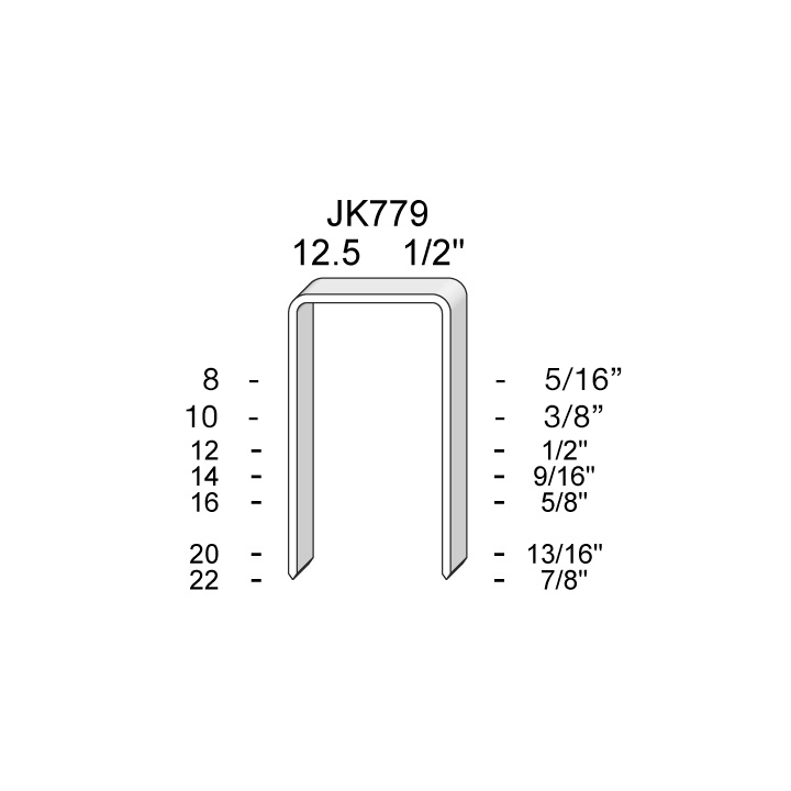 JK-779 SERIES STAPLES