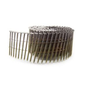 2.5 x 64mm Galvanised Ring Flat Coil Nails (9,000).