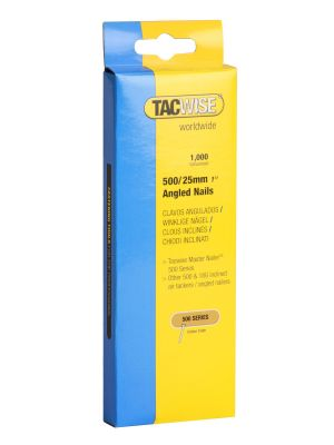 Tacwise 500//40mm De Type Angle ongles pour Nail Gun Pack de 5000
